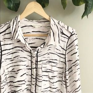 Rebecca Taylor | Zebra Stripe Buttondown Top